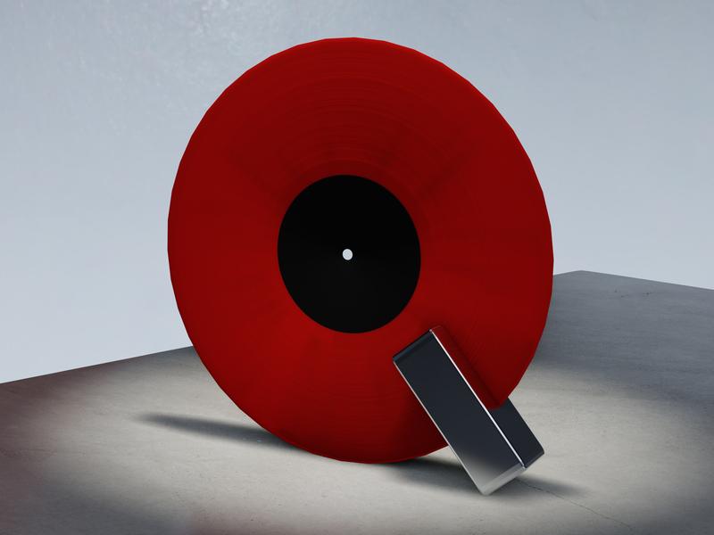 36 '19: Q 36days-q record vinyl typography blender 3d b3d 36daysoftype