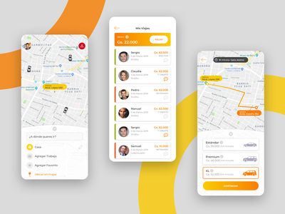 Ride Sharing Mobile App ui ux ridesharing mobile ui app mobile design