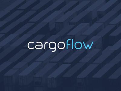 Cargoflow logistics tech flow startup modern sans serif font typography corporate identity logo branding