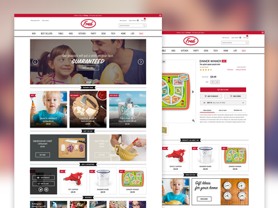 Fred & Friends website web design magento ui design ux design mobile product page storefront design responsive ecommerce