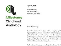 Milestones Letterhead