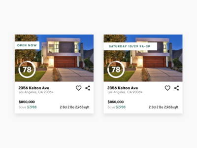 Property Cards cards typography ui