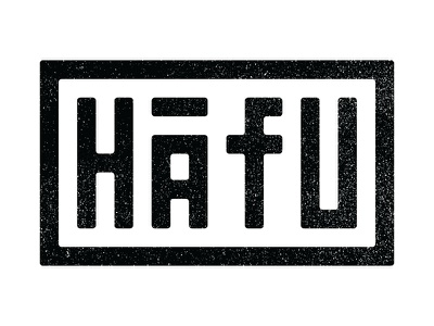 Hāfu Chop Symbol stamp chop symbol branding logo