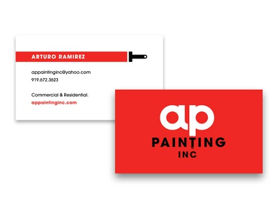 AP Painting Business Cards painting international branding business cards