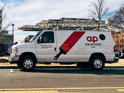 AP Painting Van vinyl vehicle branding van