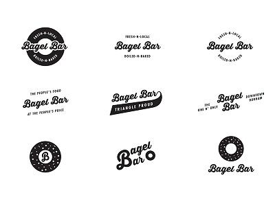 Bagel Bar Logo Explorations sketch wordmark logotype logo