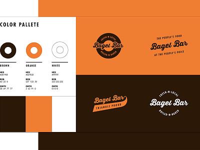 Bagel Bar Style Guide wordmark style guide logo