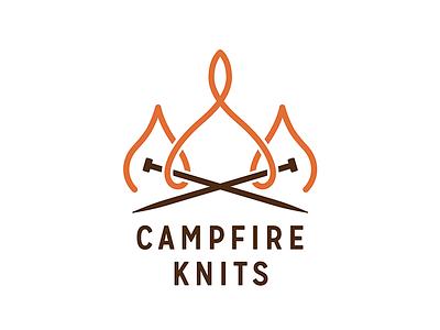 Campfire Knits knitting typography logo