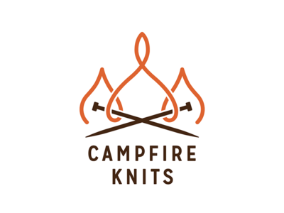 Campfire Knits knitting typography logo