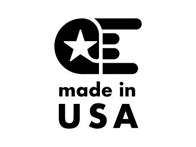 Made in USA for LOLO RACKS, Portland OR american made usa logo