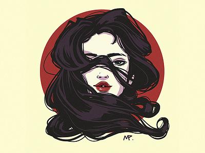 Still Here graphic art illustration digital art original art design minimal female character digital illustration digital painting illustration art