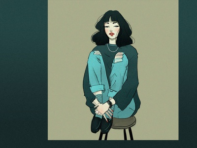 Gris female character design