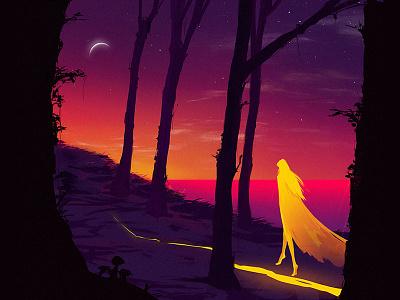 Sunset character design digital painting illustration art mood concept environment conceptart surreal gradients sunset grapicart artist digital art illustrationart digital illustrations digital illustration digitalart