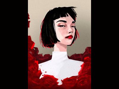 Red Dragon (pose study) beauty original art graphic art digital illustration illustration character design female character digital painting digital art illustration art
