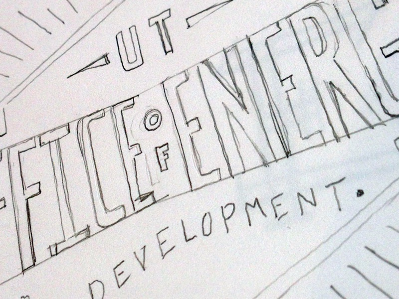 Sketch for OED logo