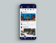 News Screen Social App