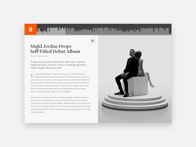 Article player layout article soundcloud