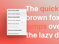 Format Features Page – Typography