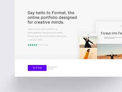 Sticky Button on Landing Page cta web simple portfolio devices format landing button sticky
