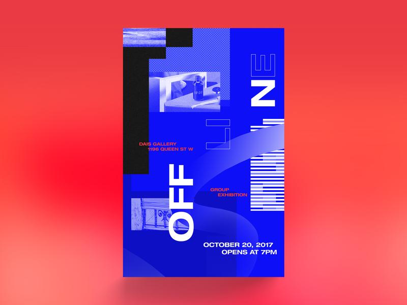 Offline Art Show Poster poster art show art design print