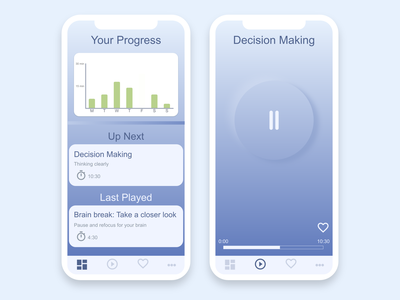 Mindfulness meditation mood mindfulness minimal blue meditation app app mobile design ux ui