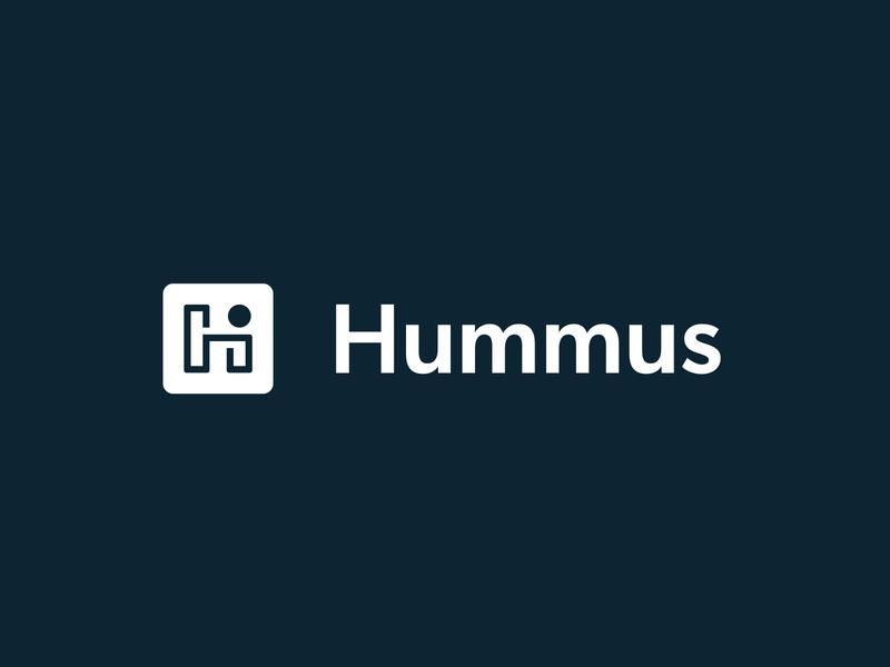 "Hummus ""H"" Logo hummus icon app dot simple modern brand logo h"