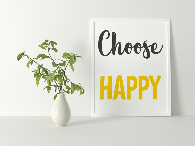 Choose Happy monogram positive goodvibes quotes