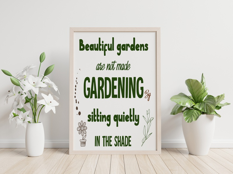 Beautiful gardens are not made Gardening decor gardening quotes
