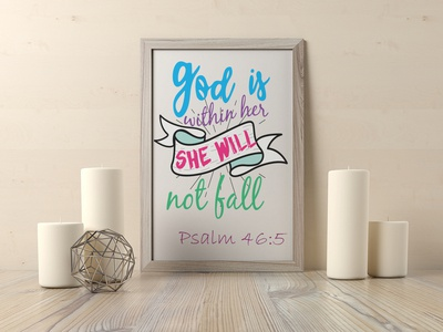 God is within her she will not fall Psalm 46:5 sermon evangelism gospel god bible verse psalms
