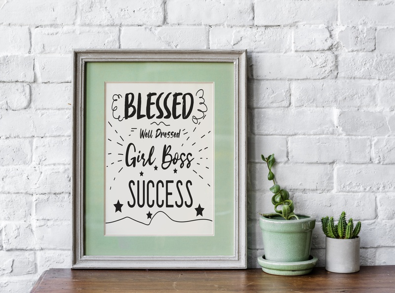Blessed well Dressed Girl boss Success success message quote clipart boss bless