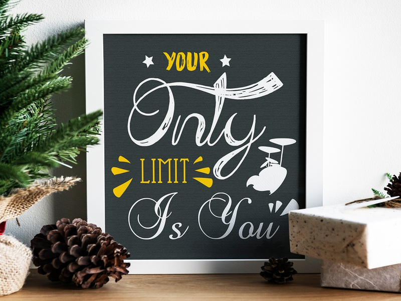 your Only Limit Is You decor positive positive vibes success message quotes