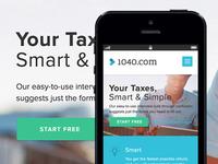 1040.com Mobile Experience
