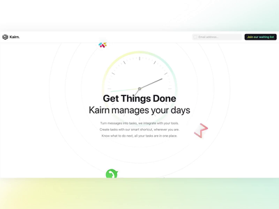 Meet Kairn — Task Manager To Empower You. empowering task management landing page website brand identity product design product design startup ui productivity todo task