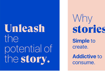 Once | Inception stories verbal typography tone of voice styleguide punchline stories instagram design system design content strategy branding brand identity art direction advertising