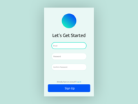 Daily UI - Day 001 - Sign Up