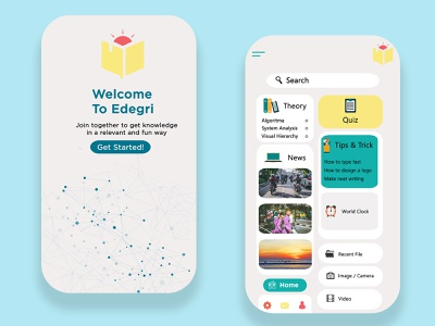 Mobile App EDEGRI Education indonesia graphic design ux design ui design ui  ux mobile ui mobile app