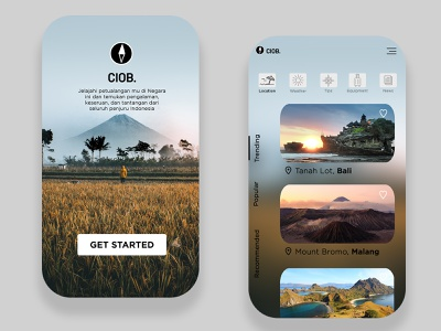 Mobile App CIOB Travelling app indonesia design ux design ui design mobile ui mobile app graphic design