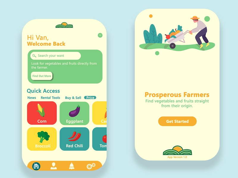 Mobile App APIC Farmer ux design mobile ui mobile app ui design indonesia graphic design