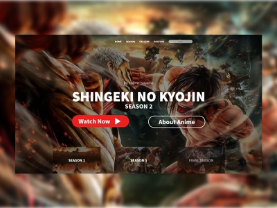 Website Snk Ui Design attack on titan anime xd design junior ui design indonesia graphic design