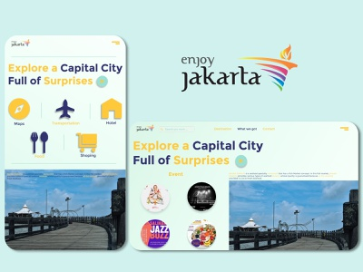 Enjoy Jakarta Design UI jakarta indonesian xd design photoshop website design mobile app ui design indonesia graphic design