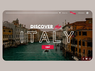 Italy Travel Design UI Website photoshop xd design travel italy webdesign ui design indonesia graphic design