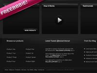 Dark Website .psd (Freebbbie!)
