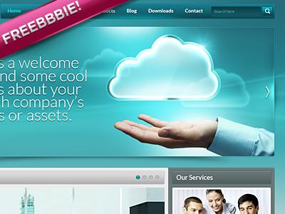 Corp Website .psd (Freebbbie!) free psd freebie psd ui