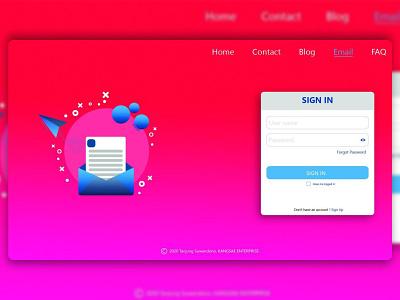 Inbox Landing page website minimal web vector ux ui flat design