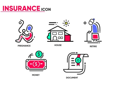 Insurance Icon branding web vector icon adobe illustrator minimal illustrator illustration flat design