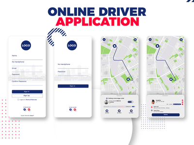 Online Driver Apps vector illustrator design illustration ui