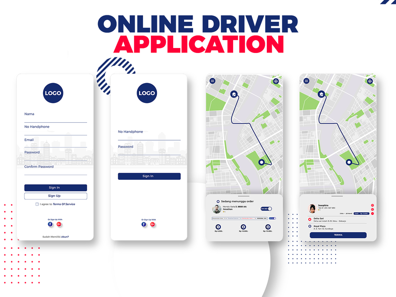 Online Driver Apps vector illustrator design illustration ui