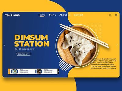 DimSum Station website branding design illustrator ui