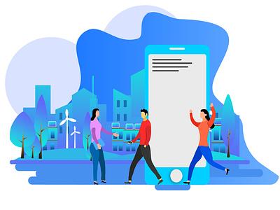 GET The City illustrator web vector ui illustration flat design