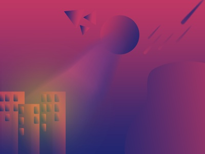 Future city minimal web vector ui illustrator illustration flat design